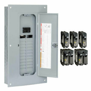 Square D 100 Amp 24 space 48 circuit Indoor Main Breaker Panel Box Load Center