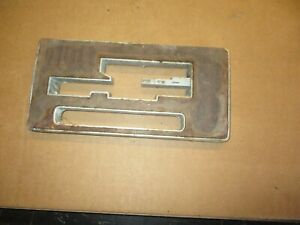 1968 Pontiac Gto Lemans His And Hers Console Plate Transmission Shifter