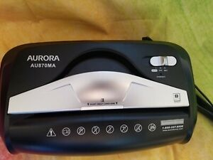 Aurora Au800ma Micro cut Paper Shredder New Without Lower Basket