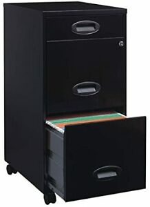 Home Office Modern Metal 3 Drawer Locking Vertical Lateral File Filling Cabinets