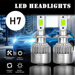Ice Blue H7 Led Headlight Bulb Kit High low Beam Fog Light 55w 8000k Bulbs Us