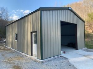 24x35x12 Steel Building Kit Simpson Metal Garage Workshop Prefab Structure