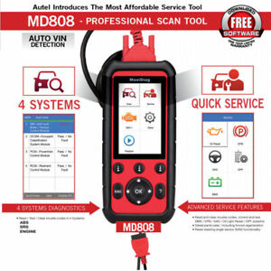 Autel Md808 Obd2 Abs Srs Engine Scanner Car Diagnostic Tools Oil Epb Sas Bms Dpf