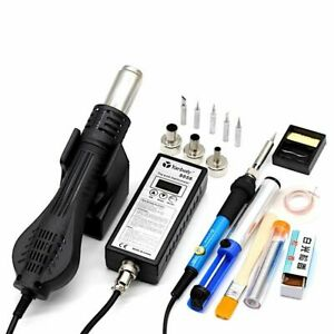 Hot Air Blower Heat Gun Soldering Hairdryer Bga Rework Solder Station Adjustable