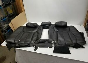 Back Seat Backrest Cover Cadillac Dts Black Leather Perforated 2006 07 08 09 10
