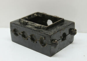 Vintage Metal Industrial 2 gang Electrical Switch Outlet Box Junction 4 Lbs