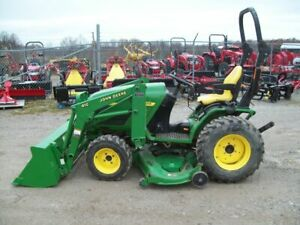 John Deere 4110 Compact Diesel 4 Wheel Drive Tractor With Loader And Mower