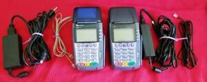 Lot Of 2 Verifone Omni 3750 Credit Card Terminals Power Supply