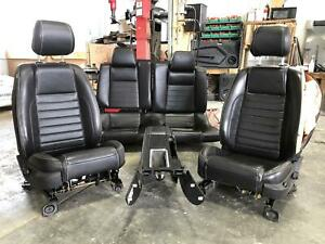 2013 2014 Ford Mustang Front Seat Rear Seat Bench Console Complete Set Leather