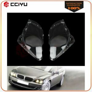 2x Headlight Lens Cover Headlamp Fit Left Right For 2005 2008 Bmw 7 Series E66
