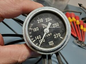 Stewart Warner 2 1 16 Mechanical Oil Temperature Gauge 427225 12 Probe