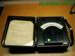 Westinghouse Px 5 1950 s Direct Current Dc Volt Meter Steampunk Bakelite