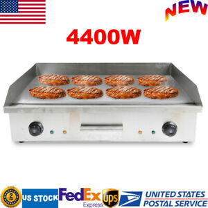 4400w Commercial Electric Countertop Griddle Flat Top Bbq Grill Stainless Steel