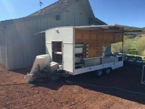 Fully Self contained Food Catering Trailer Used Mobile Kitchen For Sale In Uta