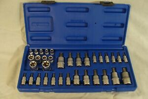 Cornwell Tools 34 Pc Master Star Hex Set Torx Bit Set Cbsmtx34s 1 4 3 8 1 2