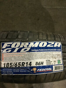 4 New 185 65 14 Federal Formoza Gio Tires