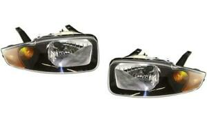 Headlights For Chevy Cavalier 2003 2004 2005 Pair Left Right New Nice
