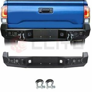 Rear Bumper Guard Assembly For Toyota Tacoma 2005 2015 Steel Black Textured