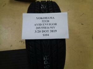 1 New Yokohama Avid Envigor 205 55 16 91v Tire Wo Label 32120 Q0
