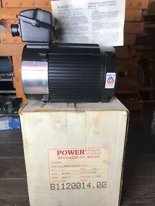 Powertec Brushless Dc Motor 1hp 1750rpm 160vdc L14asa9100900035 Made In Usa