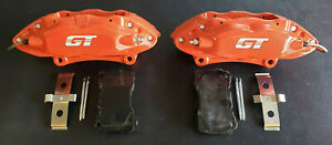 2005 2014 Ford Mustang 4piston Brembo Front Brake Calipers W Akebono Pads