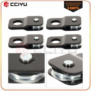 9000 Lbs Snatch Block 4 Ton Black Recovery Winch Pulley Off Road Atv Tow 4pcs