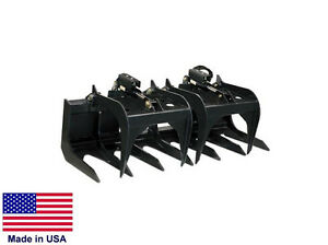 Tine Grapple Commercial For All Skid Steers Logs Rocks Demolition 6 Ft