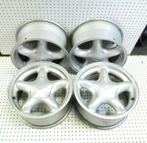 1994 1998 Mustang Gt 16x7 Aluminum Wheel Rim With Center Caps Set Of 4