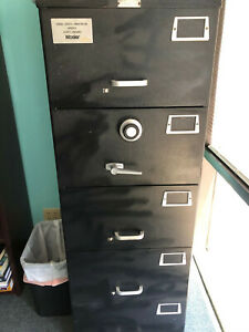 Mosler Sfc Locking File Cabinet 5 Drawer Dial Lock Classified File Cabinet