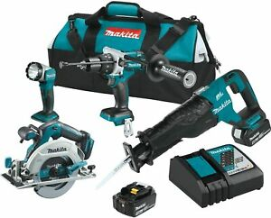 Makita Xt448t 5 0 Ah 18v Lxt Lithium ion Brushless Cordless Combo Kit 4 Piece