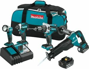 Makita Xt450t 18v Lxt Lithium_ion Brushless Cordless 4_pc Combo Kit 5 0ah