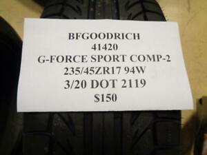 1 New Bfgoodrich G force Sport Comp 2 235 45 17 94w Tire 41420 Q0