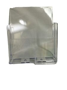 Acrylic Premium Brochure Business Card Holder For 8 5 Booklets Office Desk