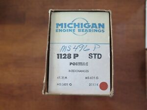 Michigan Engine Main Bearing Set 1128 P Std Nos Fits Pontiac 4d1 5