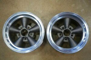 Vintage Aluminum Gm 14 X 7 Mag Five Spoke Wheels Keystone 5 On 4 75 Torq Thrust