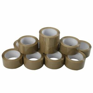 36 Rolls Premium Brown Carton Box Sealing Packing Tape 2 5 Mil Thick 2 x110 Yard