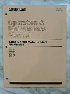 Caterpillar 140h 160h Motor Graders Na Version Operation Maintenance Manual