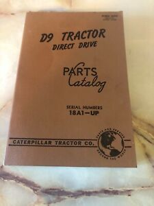 Vintage Caterpillar Tractor D9 Tractor Direct Drive Parts Catalog 204 Pages