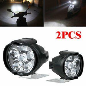 2pcs Car Motorcycle Headlight Spot Fog Lights 6 Led Front Head Lamp 12v 10w Atv
