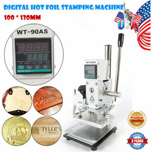 Digital Hot Foil Stamping Machine 10 13cm Leather Pvc Card Bronzing