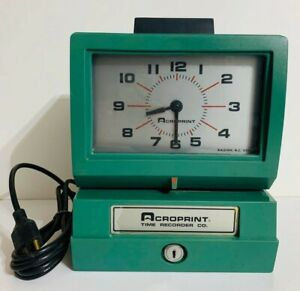Acroprint Time Recorder Co Electronic Punch Time Recorder Model 125nr4 Working
