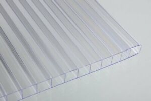 Pack Of 2 Twinwall Polycarbonate Sheet Clear 6mm 1 4 X 24 X 48