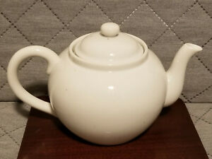 Vintage Japanese White Porcelain Teapot With Removable Filter
