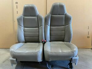 Ford F250 F350 Super Duty Leather Bucket Seats W Power And Seat Heat Beige