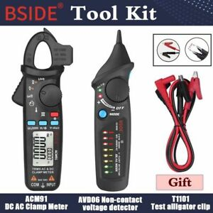 Digital Clamp Meter Tester Ammeter Multimeter Bside Acm Series Rms Dc Ac Ohm Ncv