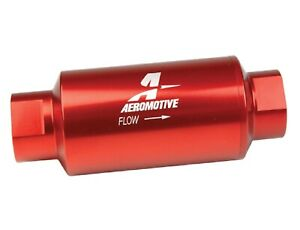 Aeromotive 12301 Red Filter In Line 10 Micron Fabric Element Proper Filtration