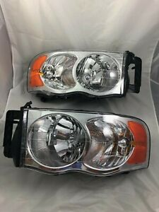 2002 2003 2004 2005 Dodge Ram 1500 2500 Complete Headlight Set