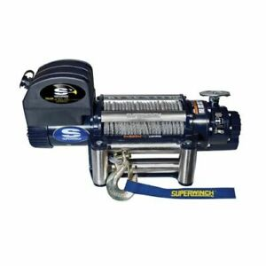 Superwinch 1612200 Winch Electric 12v 12500 Lb Roller Fairlead 85 Ft Line Length