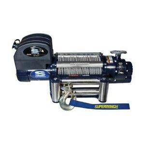 Superwinch 1695200 Winch Electric 12v 9500 Lb Roller Fairlead 85 Ft Line Length