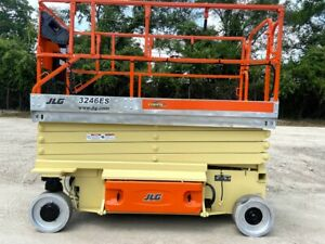 Jlg 3246es Scissor Lift 32 Ft Platform Height 1000lb Capacity Awp Manlift Jlg
